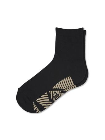 HUE -  Bamboo Home Shorty Socks with Gripper BLACK