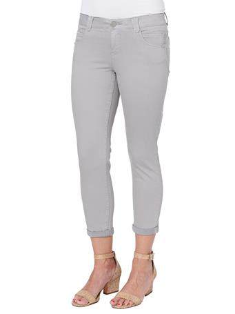 """DEMOCRACY - """"Ab""""solution Ankle Skimmer Colored Jeggings DOVE GREY"""