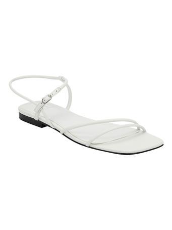 MARC FISHER - MIKAL - Flat Straight Strap Sandal WHITE