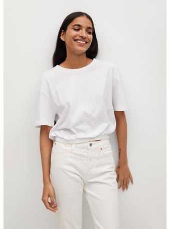 MANGO - Organic Cotton T-shirt WHITE