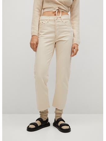MANGO - Ankle-Length Straight-Fit Jeans  NATURAL WHITE