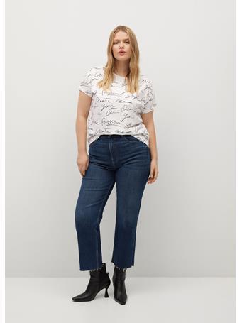 Violeta by MANGO - Organic Printed Cotton T-shirt NATURAL WHITE