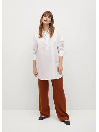 Violeta by MANGO - Shirt With Side Buttons WHITE