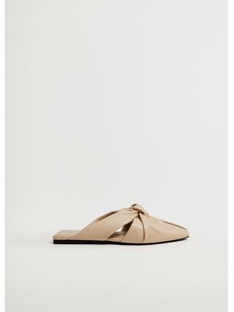 MANGO - Knot Flat Sandal LIGHT BEIGE