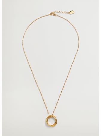 MANGO - Ring Pendant Necklace  GOLD