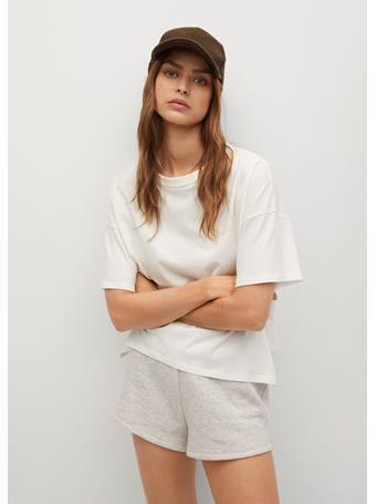 MANGO - Organic Cotton T-shirt NATURAL WHITE