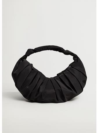 MANGO - Shoulder Bag Blanch BLACK
