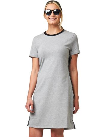 CALVIN KLEIN - T-Shirt Sneaker Dress With Side Tape Logo HEATHER/BLACK