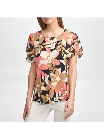 CALVIN KLEIN - Short Sleeve Print Knit Tee BWH