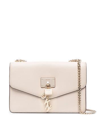 DKNY - Elissa Large Shoulder Bag WHITE/GOLD