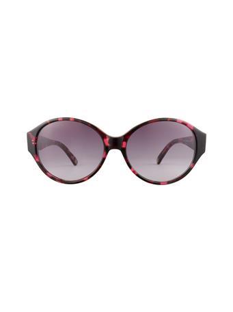ANNE KLEIN - Tortoise  Round Sunglasses BURGUNDY