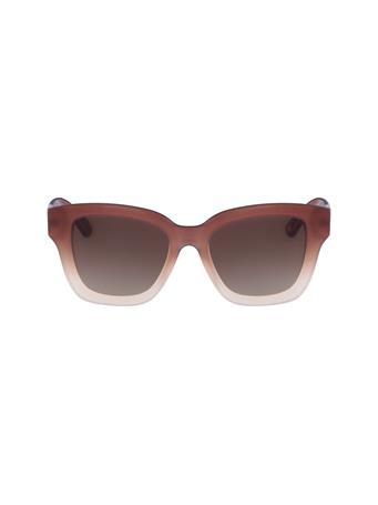 ANNE KLEIN - Classic Square Frame Sunglasses BLUSH
