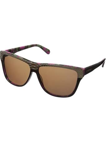 BEBE - Square Frame Sunglasses BERRY