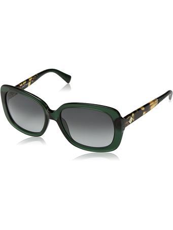 COLE HAAN - Octagon Shape Frame Sunglasses SPRUCE