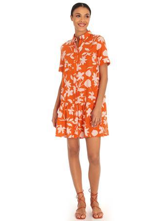 DONNA MORGAN - A Line Tiered Shirtdress CLEMENTINE