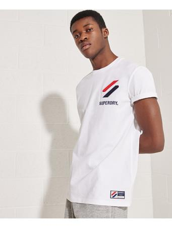 SUPERDRY - Sportstyle Chenille T-Shirt WHITE
