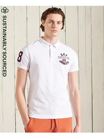 SUPERDRY - Classic Superstate Polo Shirt WHITE