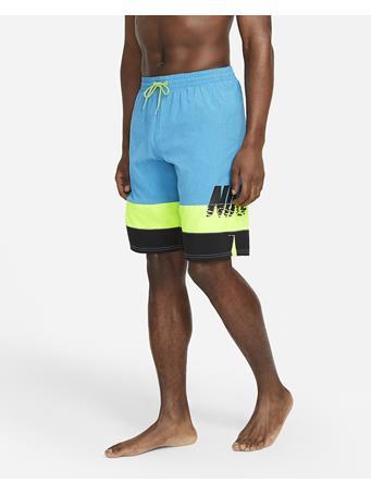 """NIKE - Men's Sunset Logo Vital 11"""" Volley Swim Trunks 406 LASER BLUE"""