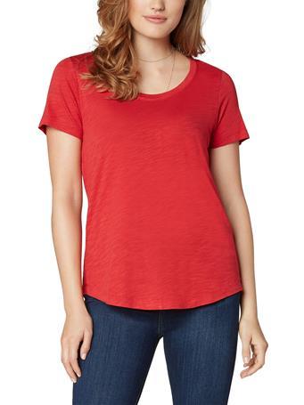 LIVERPOOL JEANS - Scoop Neck Short Sleeve Tee TRUE RED