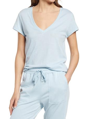 SPLENDID - Eco Jersey V-Neck Tee CLOUD BLUE