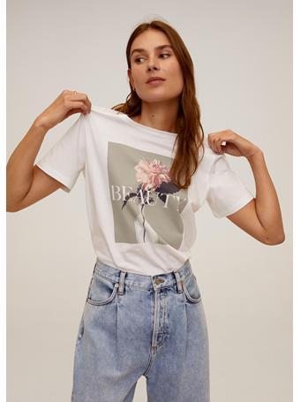 MANGO - Printed Image T-shirt WHITE