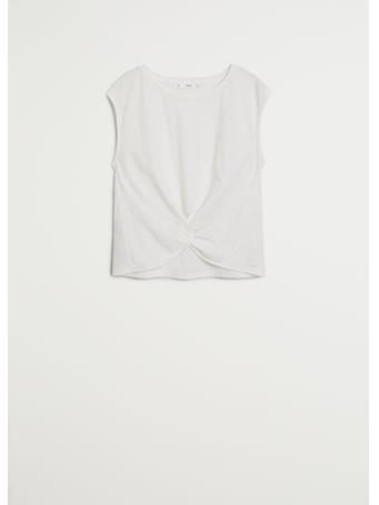 MANGO - Knot Detail T-shirt NATURAL WHITE