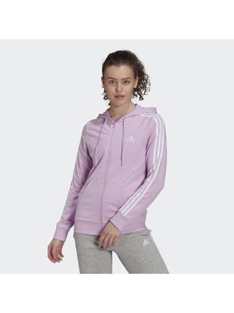 ADIDAS - Essentials Single Jersey 3-Stripes Full-Zip Hoodie LILAC/WHT
