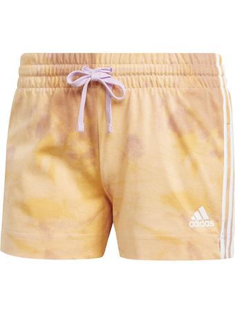 ADIDAS -  Women's Tie-Dye Effect Shorts ORANGE/LILAC