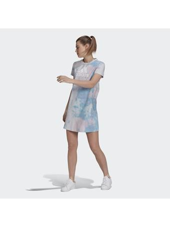 ADIDAS - Tie-Dyed Effect Dress PINK/BLUE