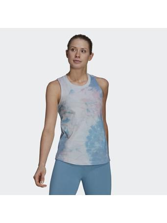ADIDAS - Tie-Dyed Effect Tank Top PINK/BLUE