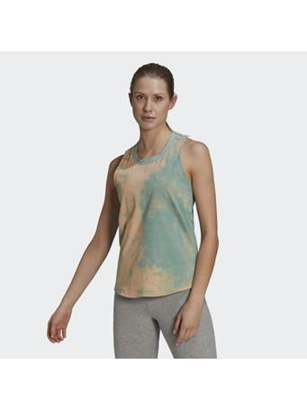 ADIDAS - Tie-Dyed Effect Tank Top MINT GREEN