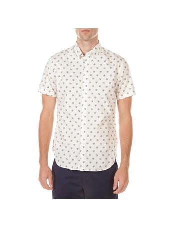 BONOBOS - Stretch Riviera Short Sleeve Shirt BEACH BALLS LIME