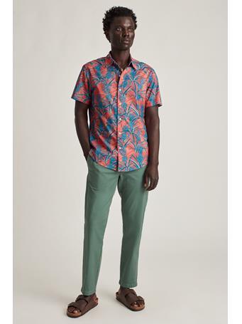 BONOBOS - Stretch Riviera Short Sleeve Shirt PLAYFUL PINEAPPLE