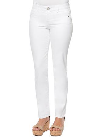"DEMOCRACY - 31/14 ""Ab""solution Straight Leg White Jeans OPTIC WHITE"