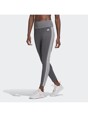 ADIDAS - Designed 2 Move High-Rise 3-Stripes 7/8 Sport Tights GRY/WHT