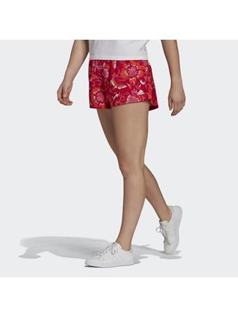 ADIDAS - FARM Rio Floral Print Shorts RED/WHT