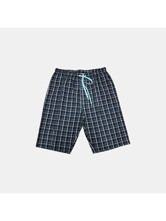 BOTTOMS OUT - Adam Woven Shorts BLACK/GREEN