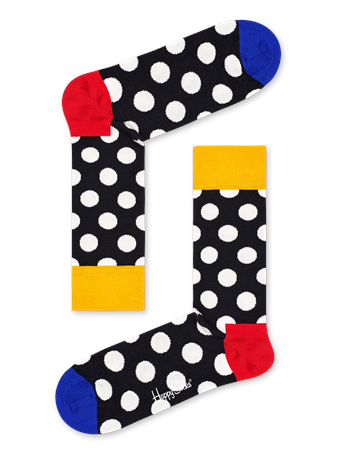 HAPPY SOCKS - Big Dot Sock BLACK