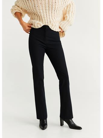 MANGO - Flared Cotton Pants 99BLACK