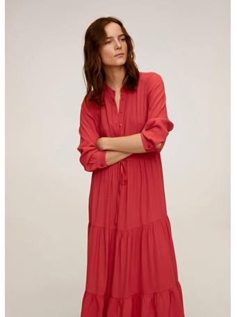 MANGO - Ruffle Gown 70 BR RED