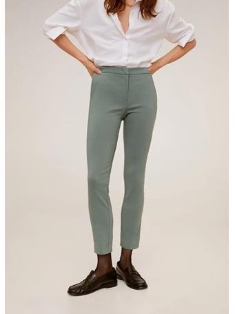 MANGO - Crop Skinny Pants 40 GREEN