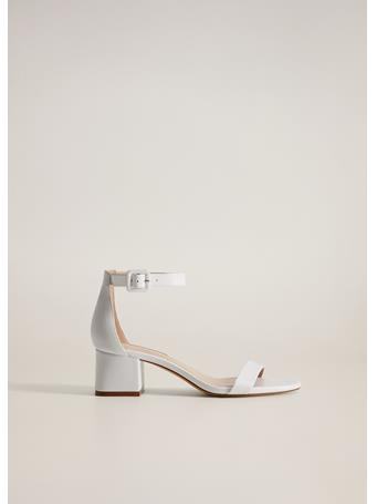 MANGO - Ankle-cuff Sandals WHITE