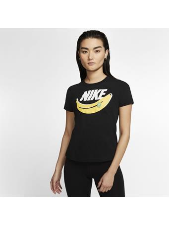 NIKE -  Short Sleeve Tee Banana BLACK