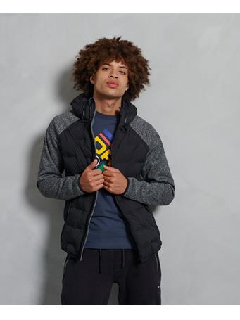 SUPERDRY - Sonic Hybrid Zip Through Jacket SONIC BLACK GRIT