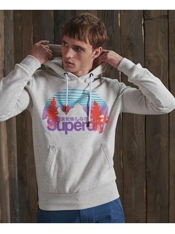 SUPERDRY - Core Logo Wilderness Hoodie QUEEN MARL