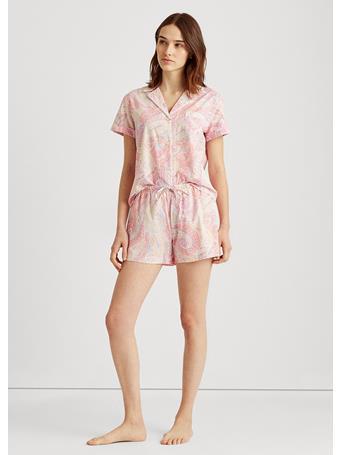 RALPH LAUREN - Paisley Boxer Pyjama Set 654 PNK PAISLY