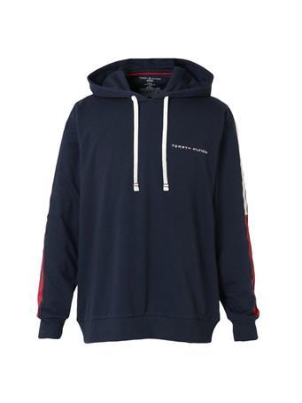 TOMMY HILFIGER - Men'S Pullover Hoodie Sweatshirt Logo Stripe DARK NAVY