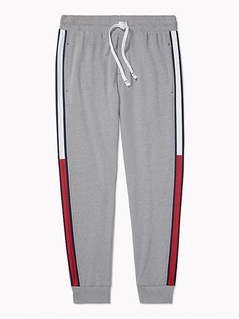TOMMY HILFIGER - Stripe Jogger GREY