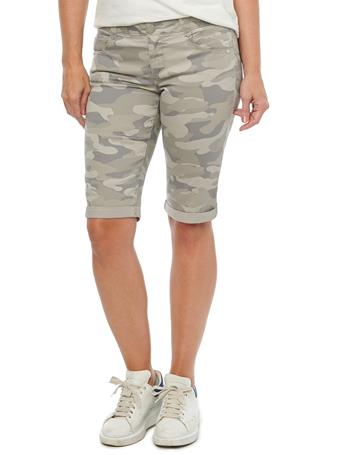 "DEMOCRACY - ""Ab""solution Stretch Camouflage Bermuda Shorts SAND"