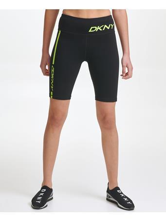 DKNY - High Waist Bike Short With Logo Graphic SOUR APPLE